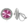 Crystalized with Dreamtime Crystal Clip-On Earrings for Dance Crystal Peony Pink/Crystal 19mm