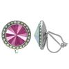 Crystalized with Dreamtime Crystal Clip-On Earrings for Dance Crystal Peony Pink/Crystal AB 17mm