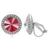 Crystalized with Swarovski Clip-On Earrings for Dance Crystal Royal Red/Crystal 13mm