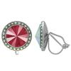 Crystalized with Swarovski Clip-On Earrings for Dance Crystal Royal Red/Crystal AB 13mm