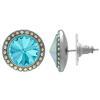 Crystalized with Swarovski Stud Earrings for Dance Aquamarine/Crystal AB 15mm