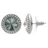 Crystalized with Swarovski Stud Earrings for Dance Black Diamond/Crystal 17mm