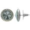 Crystalized with Swarovski Stud Earrings for Dance Black Diamond/Crystal AB 15mm