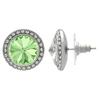 Crystalized with Swarovski Stud Earrings for Dance Chrysolite/Crystal 15mm
