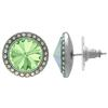 Crystalized with Swarovski Stud Earrings for Dance Chrysolite/Crystal AB 15mm