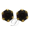 Stud Earrings with Rhinestone Accents