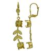 Gold Empty Jewelry Earrings Setting for Swarovski 1088 ss39. Gold Pair