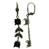 Empty Jewelry Earrings Setting for Swarovski 1088 ss39. Brassox Pair