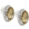 Oval Rhinestone Earrings 18x13 mm Light Colorado Topaz Crystal