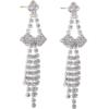 "2 1/4"" Rhinestone Dangle Earring"