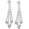 "2-3/4"" Rhinestone Dangle Earring"