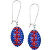 Game Time Bling Football Earrings - Sapphire/Light Siam - Sold by the Pair