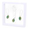 Game Time Bling Mini Football Necklace & Earring Gift Set - Emerald/Topaz