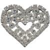 Crystal/Silver Rhinestone Piece