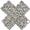 Crystal Cross Rhinestone Button