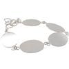 Flat Linked Bracelet, Oval in Silver Overlay