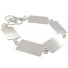 Flat Linked Bracelet, Rectangle in Silver Overlay