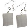 Flat Square Pendant/Earrings, Silver Overlay