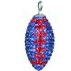 Game Time Bling Large Football (No ring) - Sapphire/Light Siam