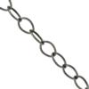 Cable Chain, 0.91mm wire size, 6.38mm width x 9.06mm length, Antique Silver finish