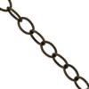 Cable Chain, 0.91mm wire size, 6.38mm width x 9.06mm length, Brass Ox finish