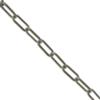 Cable Chain, 0.48mm wire size, 2.35mm width x 5.24mm length, Imitation Rhodium finish