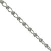 Ladder Chain, 0.63mm wire size, 3.79mm width x 6.60mm length, Imitation Rhodium finish