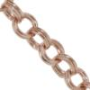 Double Cable Chain, 8.49 mm wide, Rose Gold Finish