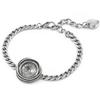 12mm Empty Rivoli Wavy Bracelet for Swarovski 1122 Antique Silver