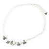 12mm Empty 5 Setting Necklace for Swarovski 4470 Shiny Silver
