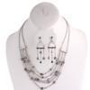 Rhinestone Necklace and Earring Set - Jet