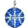 Game Time Bling Mini Basketball - Sapphire/Crystal