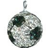 Game Time Bling 14mm Soccer Ball w/Sterling Silver Loop - Crystal/Jet