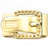 Buckle-Style Magnetic Clasp, Gold Without Crystals, 1.5 inches