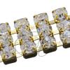 Metal Set Rhinestone Banding ss19 Crystal in Gold Metal