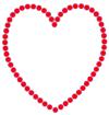 Iron On Transfer - Heart-Outline