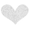 """Rhinestone Heart Iron On Applique Patch Crystal 2 1/2"""""""