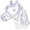Horse Iron On Crystal Rhinestone Transfer