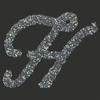 Swarovski Sticker Monogram Letter H, 2 Inch Height