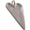 Long Heart Pendant for Embellishing 51x27mm