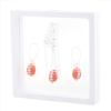 Game Time Bling Mini Football Necklace & Earring Gift Set - Hyacinth/Crystal