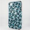 Bling iPhone Case for iPhone 4 Teal Animal Print