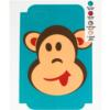 Boy Monkey Template for Phone Case for iPhone 4/4S for use with Flat Backs
