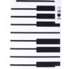 Piano Template for Phone Case for iPhone 4/4S for use with Flat Backs