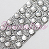 Iron On Rhinestones by the Yard - 4 Row - Crystal