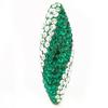 Game Time Bling Icicle Pave Bead - Emerald/Crystal