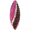 Game Time Bling Icicle Pave Bead - Jet/Fuchsia/Crystal