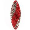 Game Time Bling Icicle Pave Bead - Light Siam/Black Diamond