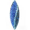 Game Time Bling Icicle Pave Bead - Montana/Sapphire/Aquamarine