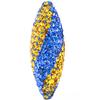 Game Time Bling Icicle Pave Bead - Sapphire/Topaz
